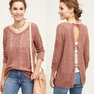 Anthropologie Adelina Knitted & Knotted Sweater